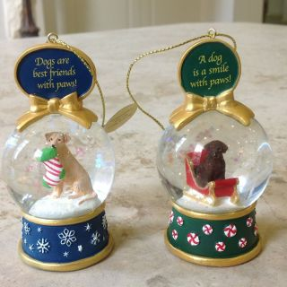 Snow Globe Ornament Danbury Mint Dogs Best Friend Paws