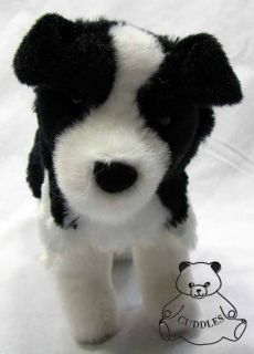 Meadow Border Collie Dog Douglas Cuddle Plush Toy Stuffed Animal Black
