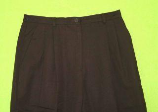 Ann Taylor Sz 12P Petite Brown Wool Womens Dress Pants Slacks 6I59