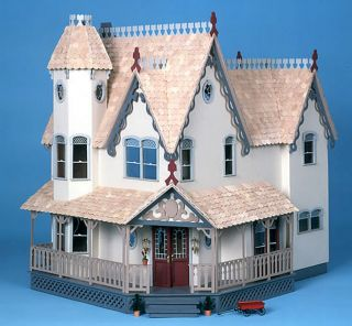 Lovely Grand Gingerbread Victorian Dollhouse Wood Kit Brand New