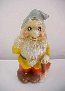 Disney Productions Snow White Dwarf with AX Chalkware Figurine