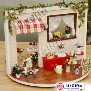 Dollhouse Miniature DIY Kit with Cover Romantic Love Rose Garden Song
