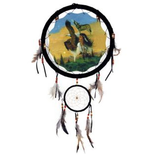 New 13 Indian Eagle Wolf Buffalo Dream Catcher Wall Hanging Decor