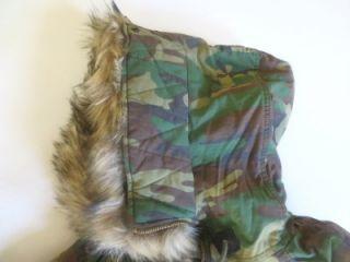 Denim Supply Ralph Lauren Camo Snorkel Puffer Faux Fur Hood Jacket XL