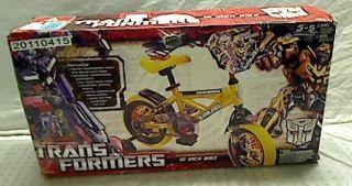 Dynacraft Transformers Bumblee Bike 12 inch Wheels