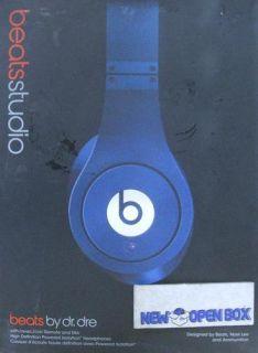 monster dr dre beats studio over ear headphones blue