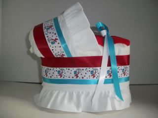 Dr Seuss Thing 1 and 2 Boy Girl Neutral Diaper Bassinet Baby Shower