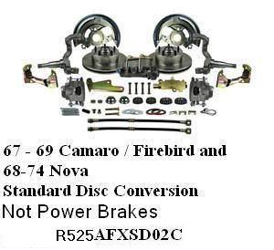Front Standard Disc Brake Conversion Kit    For Replacing Drum Brakes