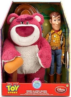 Disney Toy Story Woody and Lotso Lots OHug Bear Talking Figure Doll