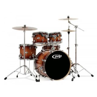 by DW M5 All Maple 5 Piece Drum Set Shell Pack Tobacco Sunburst