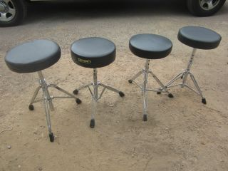 Four Drum Thrones Throne Seat Stool Chairs 1