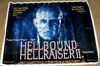 HELLRAISER II 1988 British Quad movie poster Clive Barker Pinhead