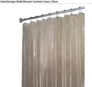 NEW Interdesign 14561 Vinyl Shower Stall Curtain Liner Clear