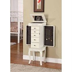 NEW Morre 5 Drawer Jewelry Box Armoire Organizer Mirror Stand Chest