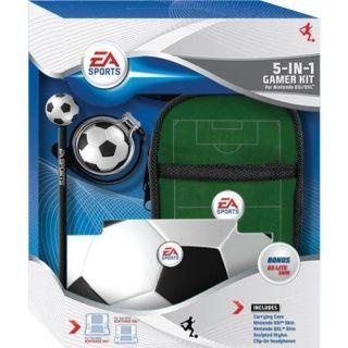 Ea Sports Nintendo DS Lite DSi Soccer Travel Kit Case Skins Stylus