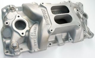 SBC, Chevy, Edelbrock Performer RPM Intake Manifold, Wilson