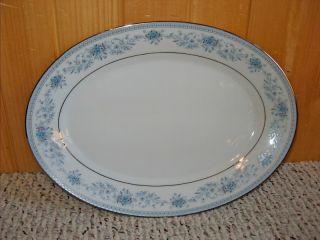 Noritake Large Oval Platter Blue Hill 2482 Contemporary Fine China