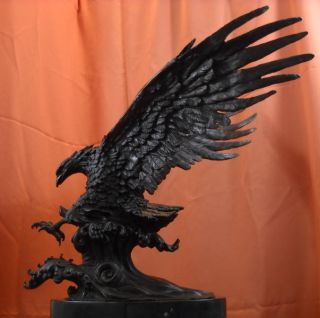 Magestic Falcon Eagle Bronze Statue Sculpture on Sale