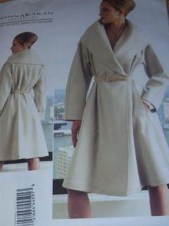 Vogue V1321 Designer Donna Karan Ladies Double Breasted Coat Pattern 6