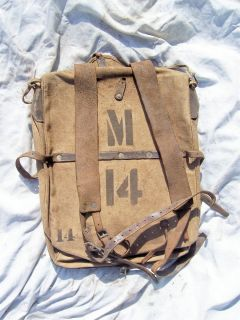1883 U S ARMY ISSUE MILITARY ARMY BACKBACK RUCKSACK ORIGINAL