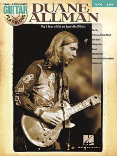 Duane Allman Hal Len Guitar Playalong Vol 104 Book CD
