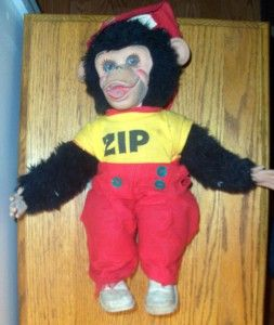 vintage rushton zip zippy monkey chimp howdy doody