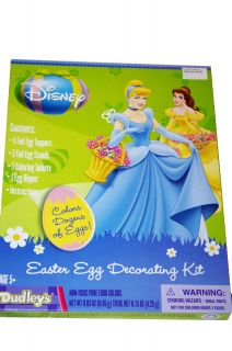 Disney Princess Cinderella Belle Tiana Easter Egg Dye Decorating Kit