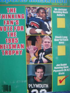 Illustrated Auburn Bo Jackson Heisman Chuck Long Joe Dudek 1985