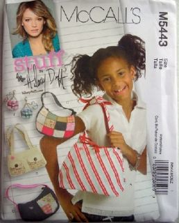 Bags to Make for Girls A Hilary Duff Sewing Pattern M5443