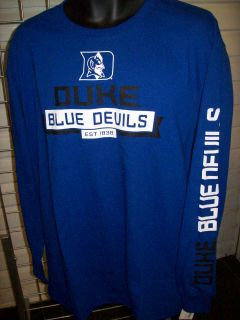 Duke Blue Devils Genuine Stuff Balanced 407WJ Long Sleeve T Shirt Sz