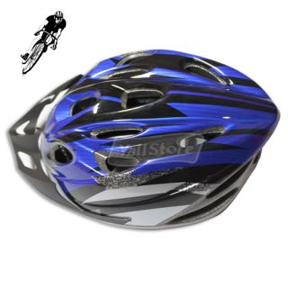 New 2012 Bicycle Helmet Mens PVC EPS Blue & Black Bike Cycling Adult