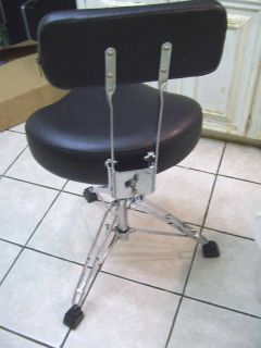 Drum Throne or Stool double braced heavy duty with back rest
