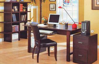 Ash Wood Veneer 2 Drawer Office File Cabinet Casters