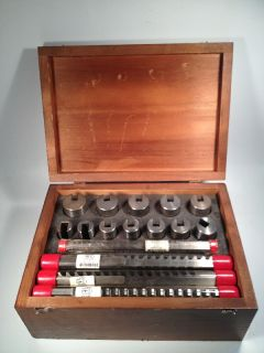 Dumont 80 Broach Set Keyway Cutter Lathe Gear Cutting Minute Man Tool
