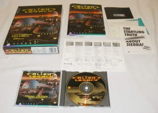 Alien Legacy RARE Dos PC CD ROM Game Sierra Space 020626836449