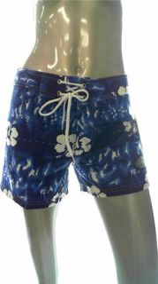 East Coast Surf Wear Misses L Board Shorts Dark Blue Hawaiian Designer