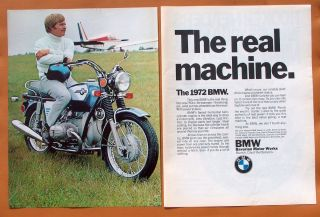 0504 1972 BMW Motorcycle Two Page Full Colour Ad