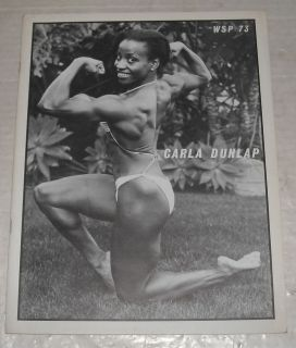 Womens Strength Physique Bodybuilding Magazine Carla Dunlap