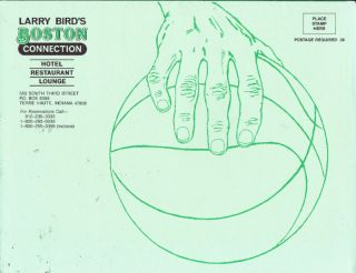 Larry Bird Boston Connection Hotel Menu Celtics