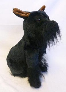 Melissa Doug Miniature Schnauzer Kids Plush Toy Stuffed Animal Black