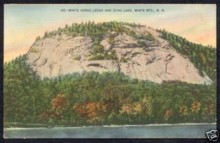 White Mountains Mts New Hampshire Echo Lake NH Postcard
