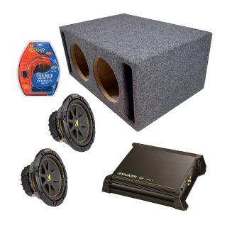 Kicker Car Audio Dual 8 Slot Ported C8 Powered Sub Box DX250 1 Amp