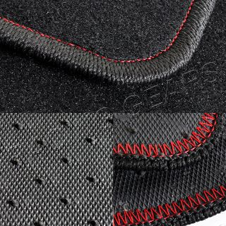 95 99 Mitsubishi Eclipse JDM 4 Piece Black Nylon Floor Mat Carpet