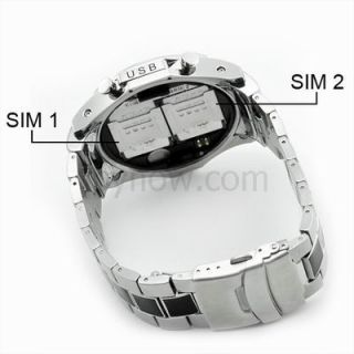 Watch Cell Phone Mobile Dual Sim Dual Standby Cam S760