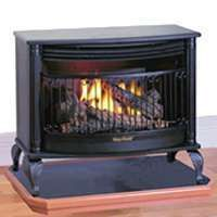 25K BTU GAS STOVE DUAL FUEL GAS FIREPLACE HEATER PROPANE OR NATURAL
