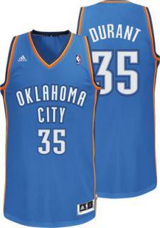 KEVIN DURANT 2012 NBA ADIDAS OKC THUNDER REVOLUTION 30 SWINGMAN JERSEY