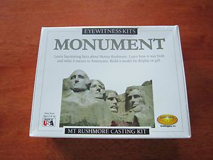 New MT Rushmore Monument Casting Craft Modeling Kit Eyewitness Kits
