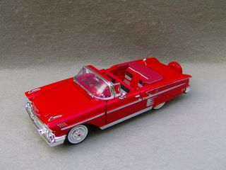1958 Chevrolet Impala Diecast Car Model Red 1 24
