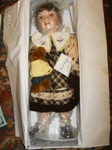 duck house heirloom porcelain doll celeste 20 nib