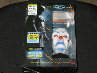The Dark Knight DVD Best Buy Exclusive Limited Edition Clown Mask New